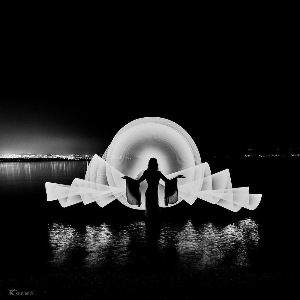 Light painting - Lac Léman - Fuji X-T3