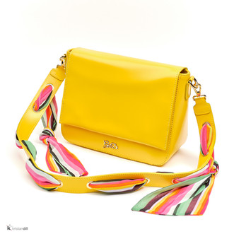 woman yellow fashion hand bag