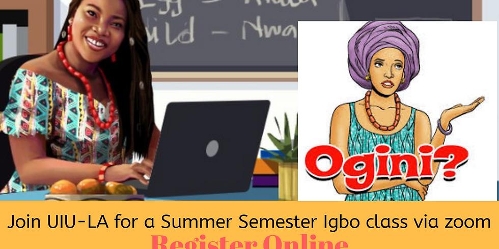 UIU-LA Presents: Ịmụta Asụsụ Igbo (Igbo Language Class), Social Distancing Summer Edition