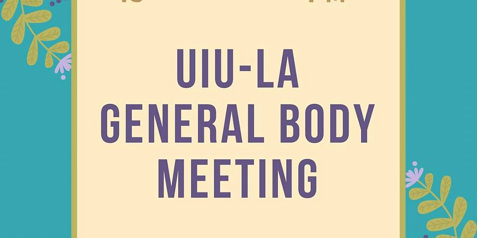 Monthly General Body Meeting