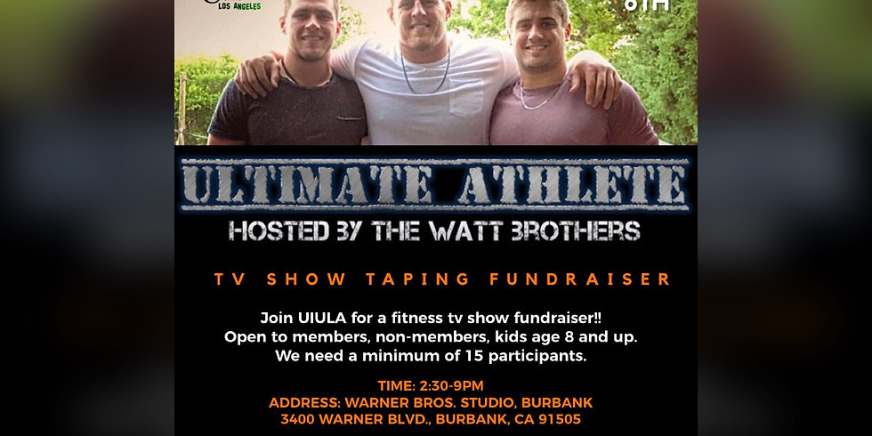 Ultimate Athlete TV Show Taping