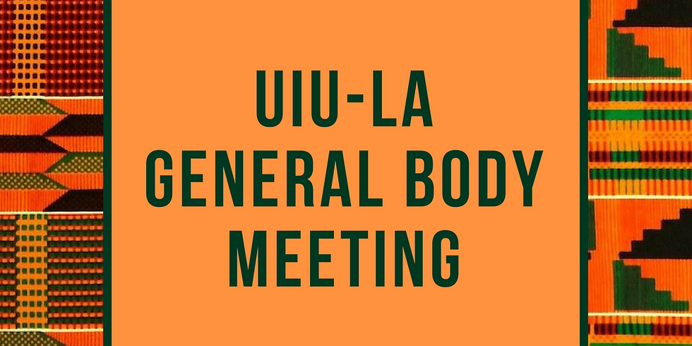 Monthly (May) General Body Meeting