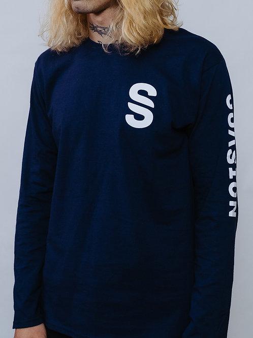 Long Sleeve T-Shirt Suasion Navy Blue UNISEX