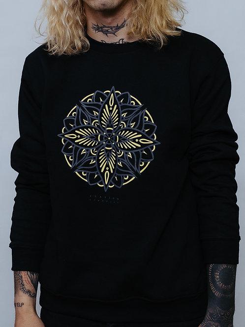 Crewneck Sweatshirt Mandala Black UNISEX