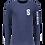 Thumbnail: Long Sleeve T-Shirt Suasion Navy Blue UNISEX
