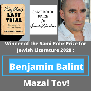 "Benjy Balint Wins the 2020 Sami Rohr Prize for ""Kafka's Last Trial""!"