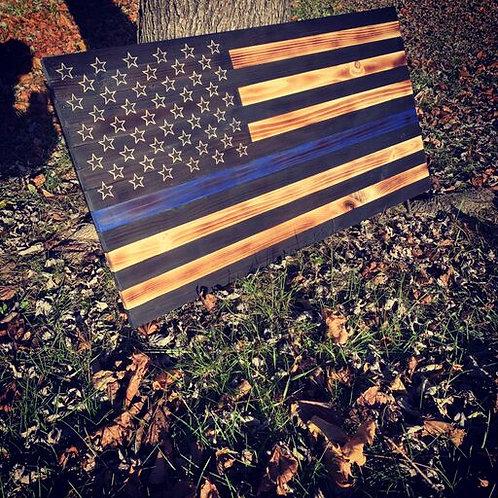 Thin Blue Line Flag (Law Enforcement)
