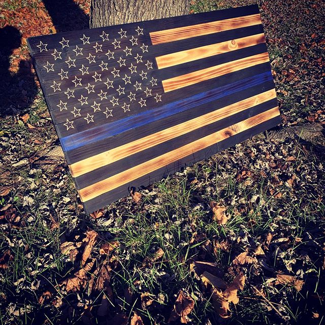 Thin Blue Line Flag ready to sell! As al