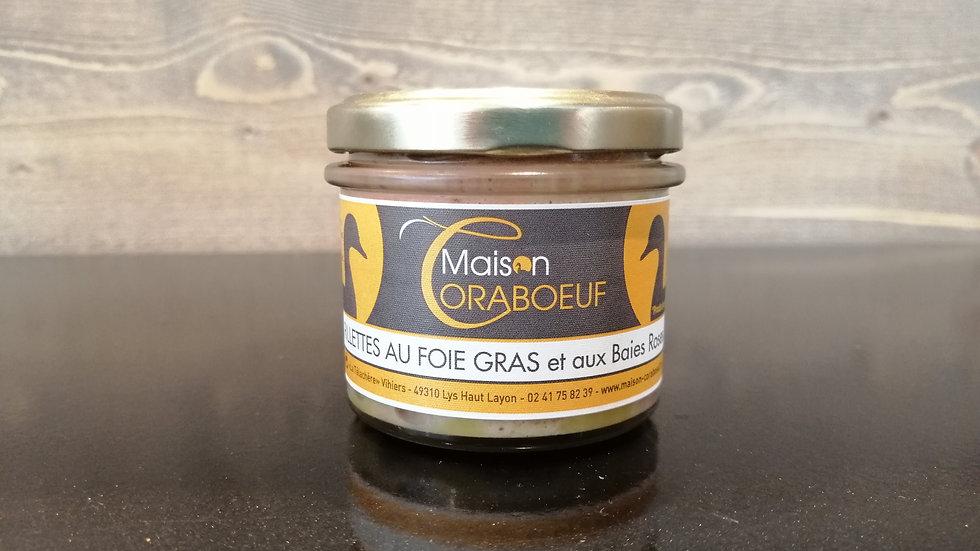 Rillettes au foie gras et aux baies roses