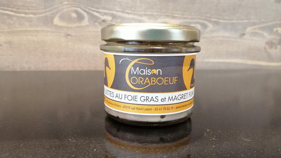 Rillettes au foie gras et magret fumé