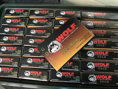 Wolf Gold .223 Ammo in Case