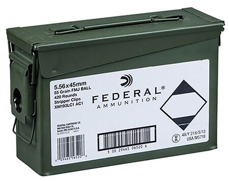 FEDERAL 5.56 x 45mm in Ammo Can 430 Rds