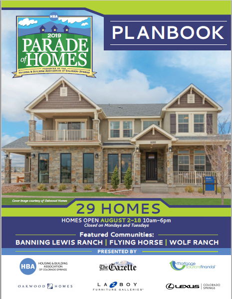 2019 Parade of Homes Planbook cover