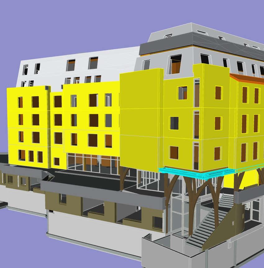75 - 2 crèches et résidence Hôtelière (r+6)