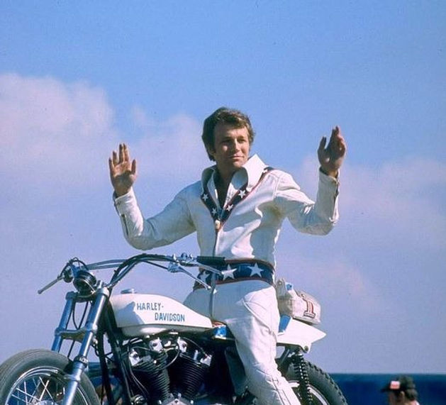 Evel Knievel on Harley