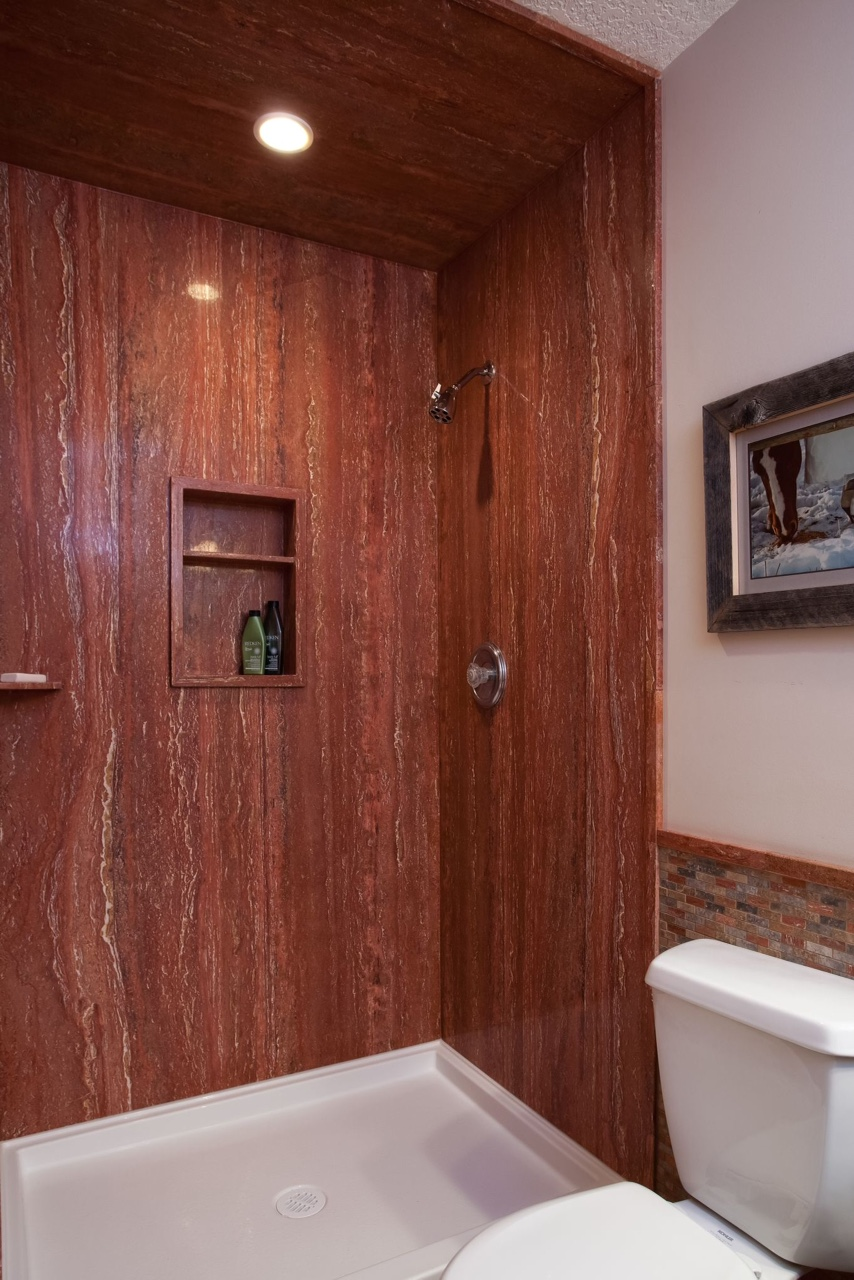 DSP Red Travertine Shower