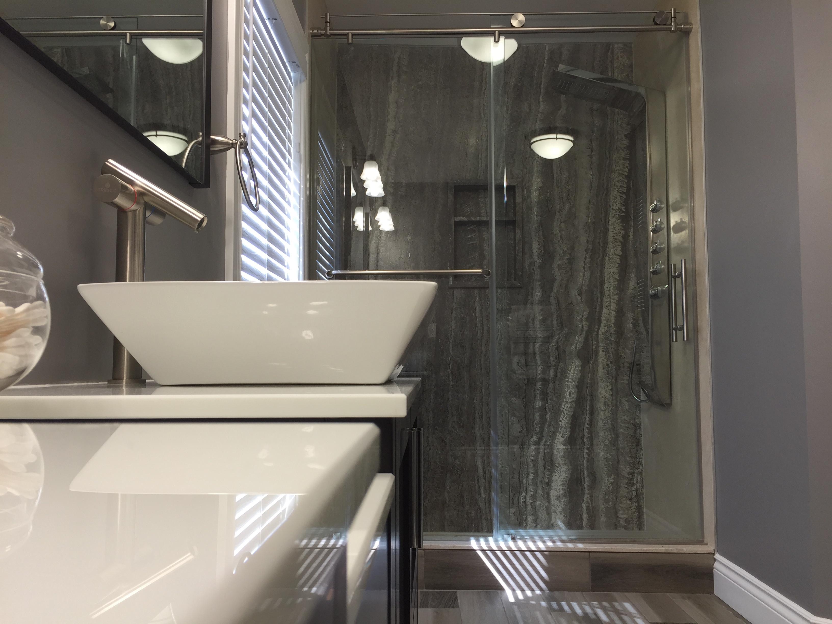 DSP Silver Travertine shower2