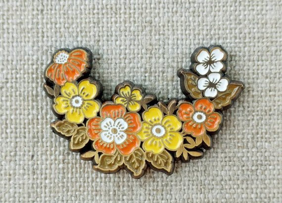 Floral Wreath Pin