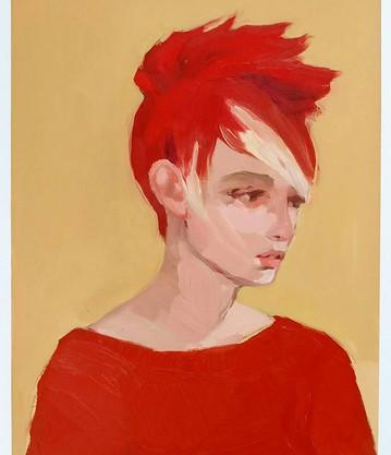 Red Faux Hawk