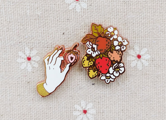 Strawberry Picker Pin Set
