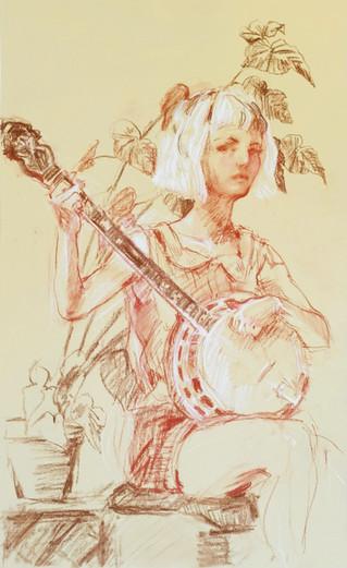 Self Portrait with Banjo