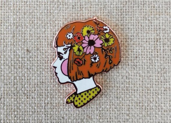 Wild Flowers in her Hair Pin