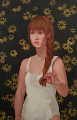 Girl with Rudbeckias
