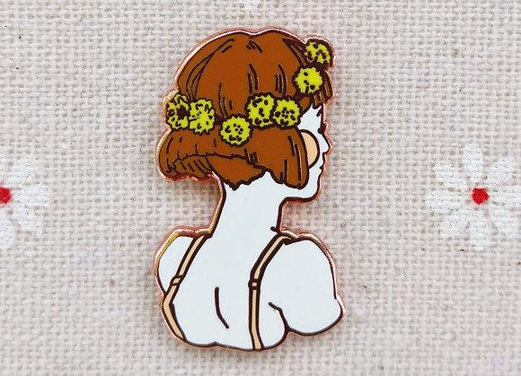 Dandelion Crown Pin
