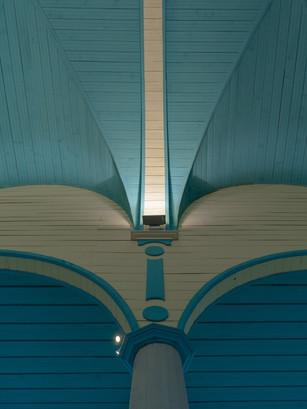 Detalle de los pilares y colores