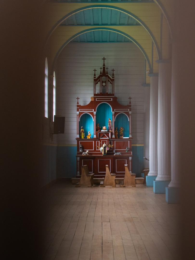 Interior, sector lateral de la Capilla