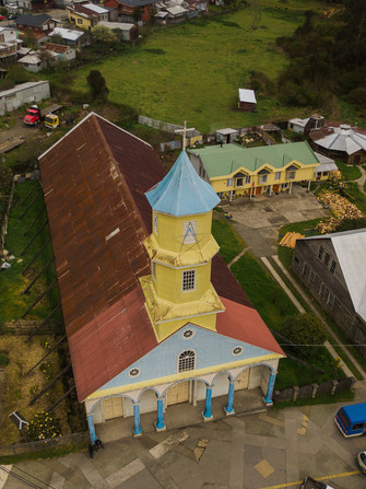 Toma aérea de la Iglesia