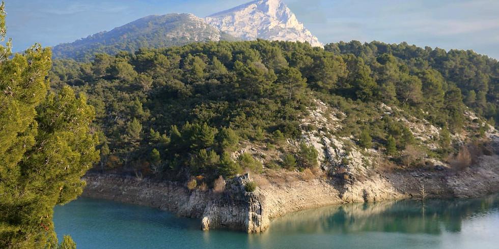 Les barrages près de la montagne Ste Victoire