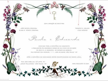 Convites para o seu casamento