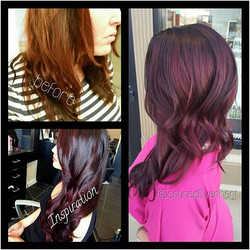 Winter Merlot 🍷❤💜_°_°_°#nofilter #tranformationtuesday #757stylist #chesapeakestylist #modernsalon