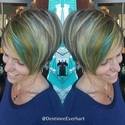 Always try something new! 💙💚💛_°_°_°  #pravananeons #pravanavivids #modernsalon #americansalon #fi