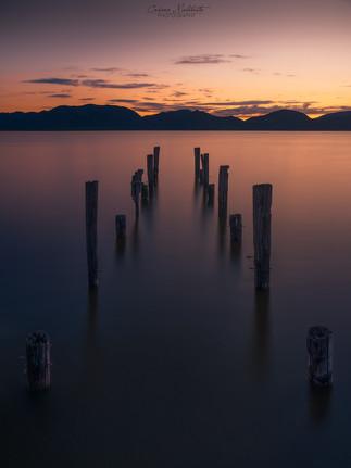 Vecchio pontile al lago di Massaciuccoli
