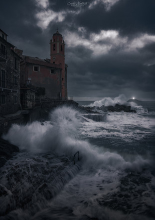 Tellaro and the Tino lighthouse