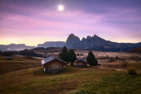 Alpe di Siusi under the Moon
