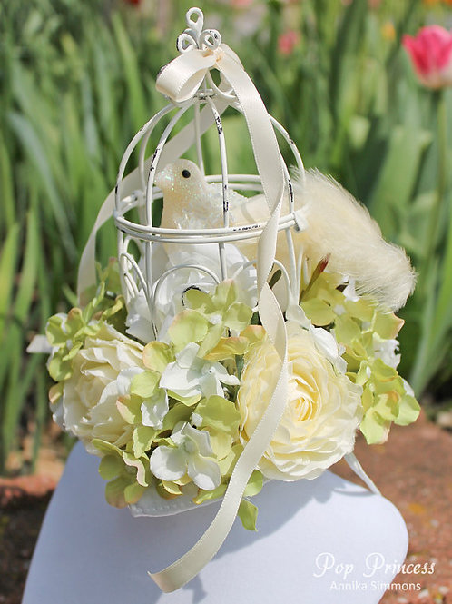 Cage Bird Flower Fascinator