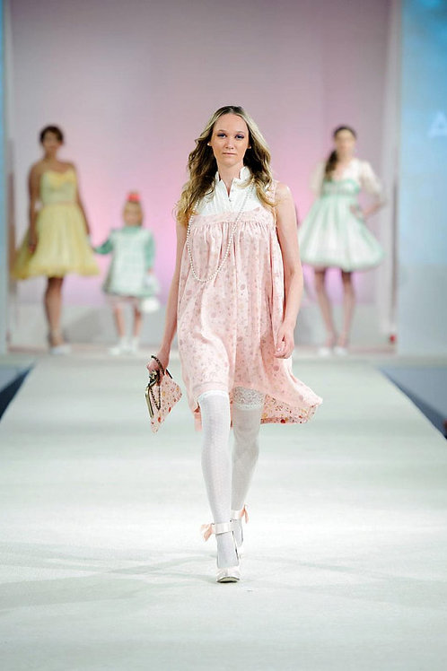 Couture Silk Habotai Dress Runway