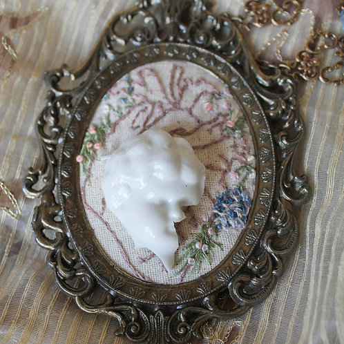 Doll Maker Anatomical Heart and Broken Doll Head Necklace