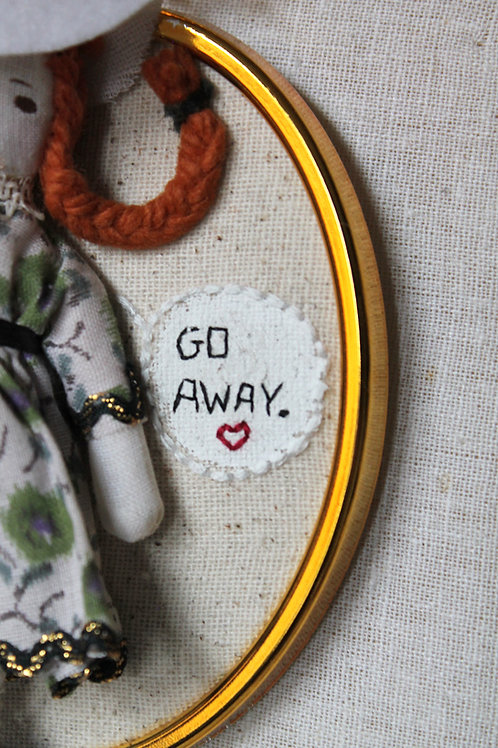 Go Away Embroidery