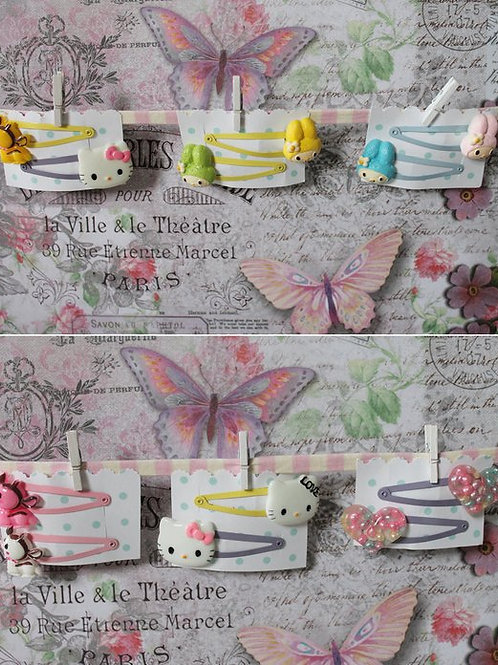 Kawaii Hair Clip Accessories Dessert Bunny Rabbit Kitty Deer Fawn Gumball Candy