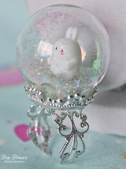 Molang Snow Globe Ring