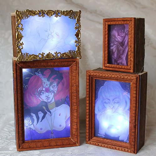 Faux Stained Glass Light Box Illustrations