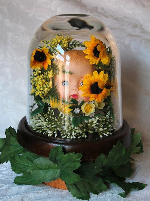 Doll Head in Sunflower Terrarium