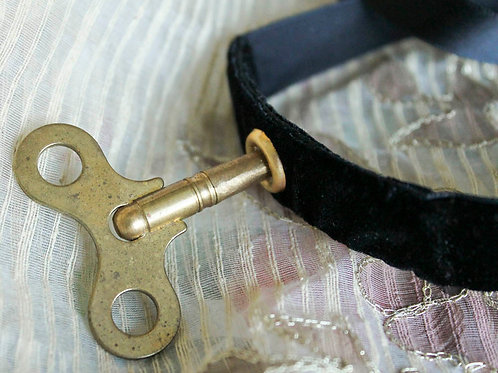 Wind Up Key Doll Choker Necklace