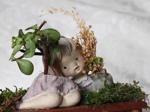 Creepy Cute Girl Porcelain Doll Picnic