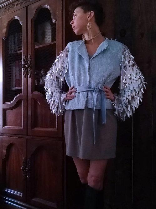 F+C x Pop Princess: Space Cadet Chanel Iridescent Fringe Sequin Jacket