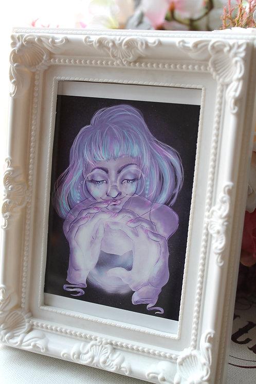 Framed Witch Illustration